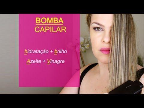✨Super Hidratação Cabelos Bomba Caseira Azeite + Vinagre  Priscila Forte ♥