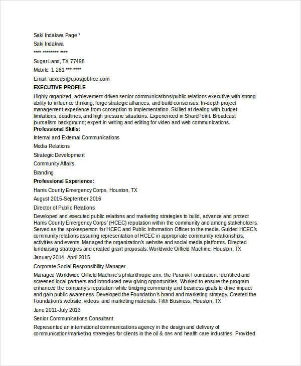 Marketing Communications Director Resume , Marketing Resume - communications director resume