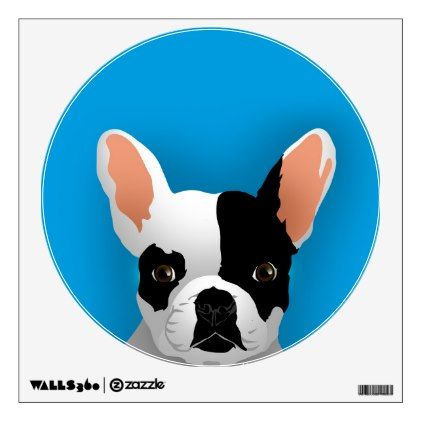 Bulldog art - french bulldog wall sticker - walldecals home decor cyo custom wall decals  sc 1 st  Pinterest & Bulldog art - french bulldog wall sticker - walldecals home decor ...