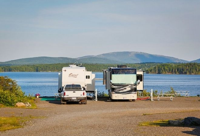 Bar Harbor Campground in Maine Great