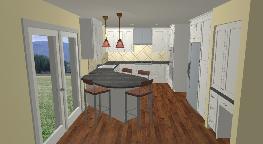 Kitchen Angled Peninsula To Clear