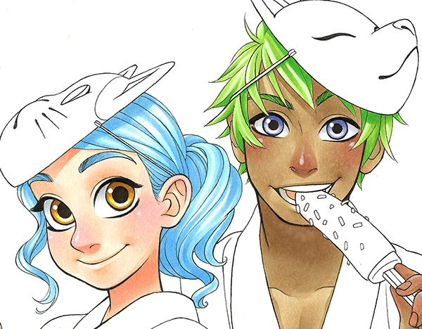 Tutorial: How to color your Hair in Manga Style - Part 3 | Copic ...