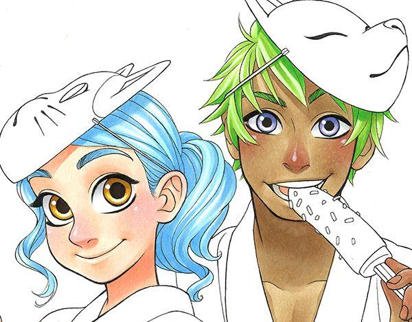 Chihiro Howe Manga Style Character Copic Marker Tutorial ...