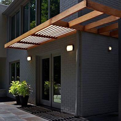 Modern Wood Awning Exterior Brick Modern Exterior House Exterior