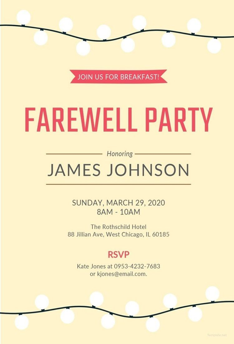 Farewell Party Invitation Card Design Farewell Party Pinterest