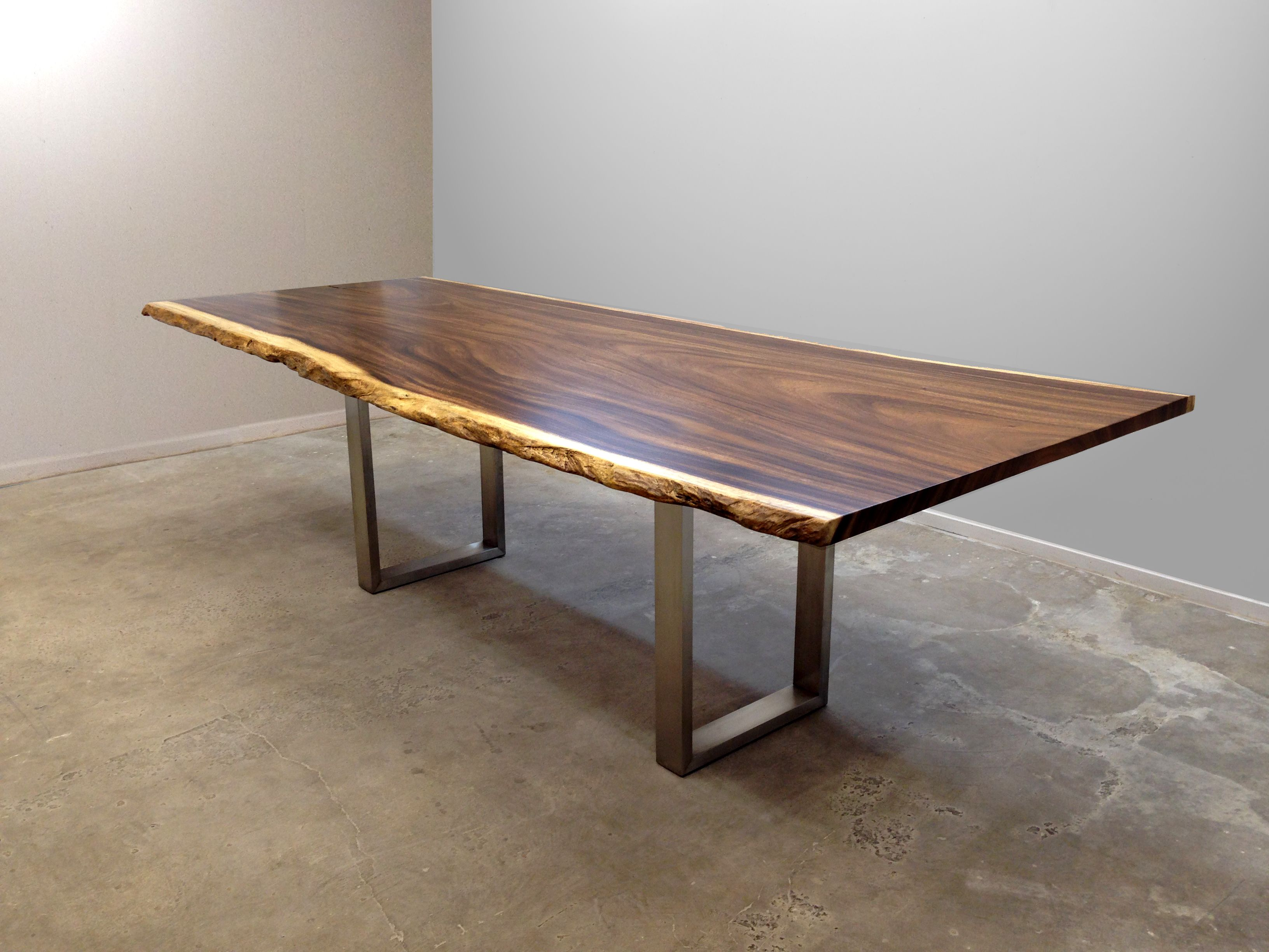 David Alan Collection Live edge slab dining table with custom