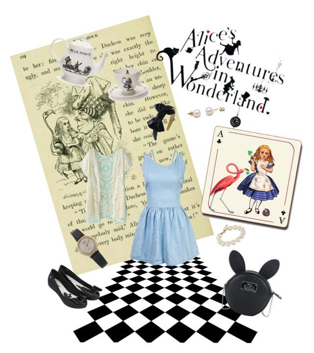 """""""Alice in Wonderland"""" by sassymari on Polyvore featuring Disney, Melissa, Mrs Moore's Vintage Store, Avenida Home and Kate Spade"""