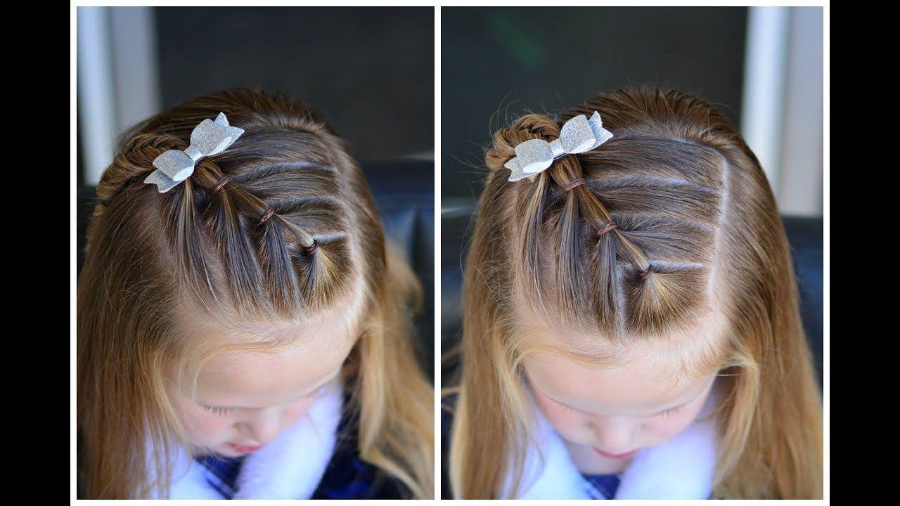 Diagonal Arrow Ponytails Quick Preschool Hairstyles Youtube Long Hair Styles Easy Hairstyles Bun Hairstyles