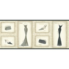"""York Wallcoverings 101/4"""" Vintage Dress Prepasted"""