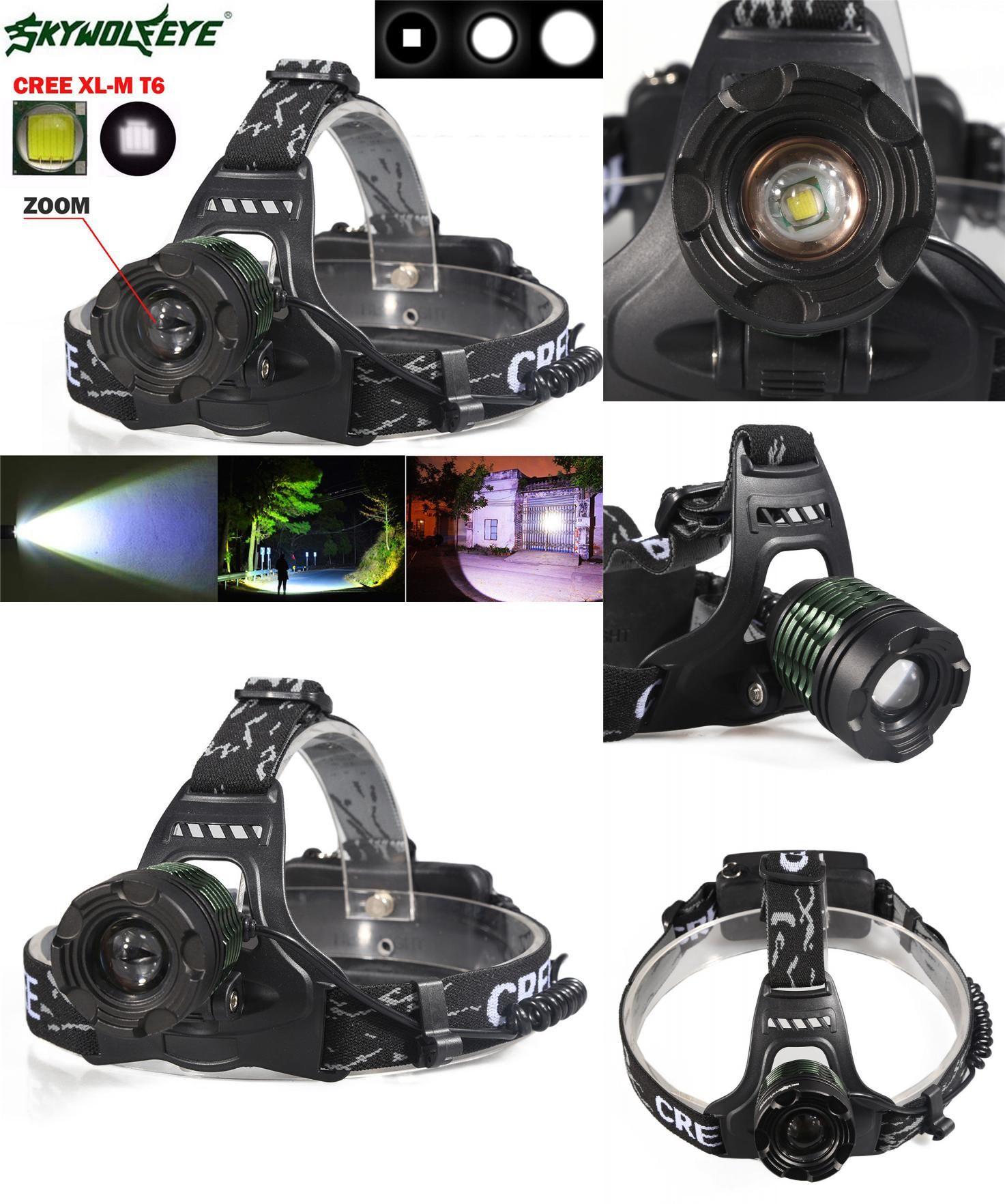 [Visit to Buy] skywolfeye outdoor Headlamps 5000 Lm CREE XM-L XML T6 LED Headlamp Headlight 18650 L7118 fishing DROP SHIP #Advertisement