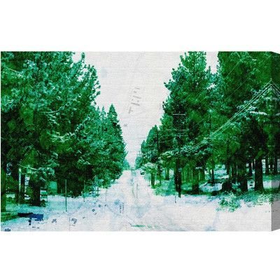 Loon Peak Mammoth Lake Road Graphic Art on Wrapped Canvas Size: