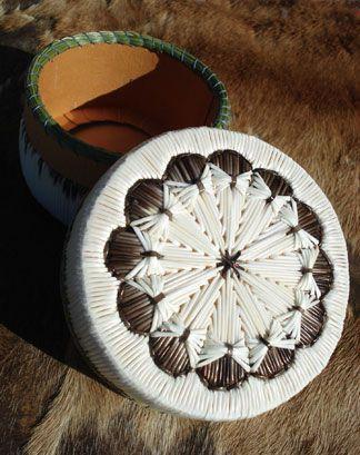 Porcupine Quill Basket