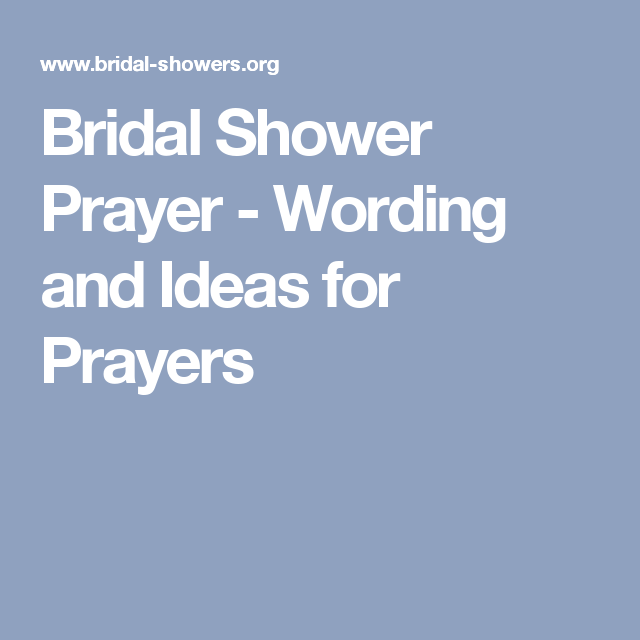 Pin On Bridal Shower Prayer
