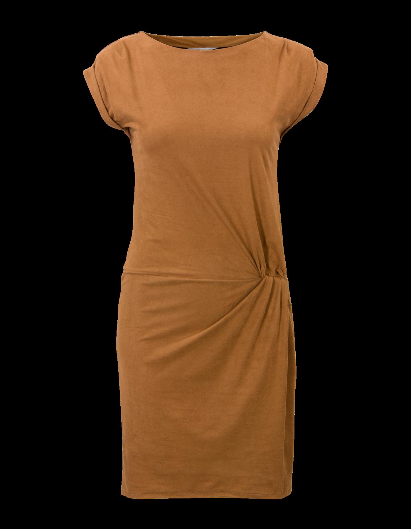 suedine dress korte mouw