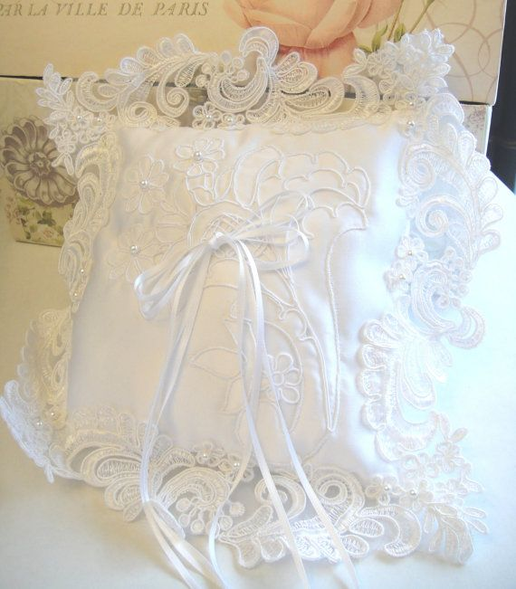 Ring Bearer Pillow by MariaArcieroCouture on Etsy, $23.00