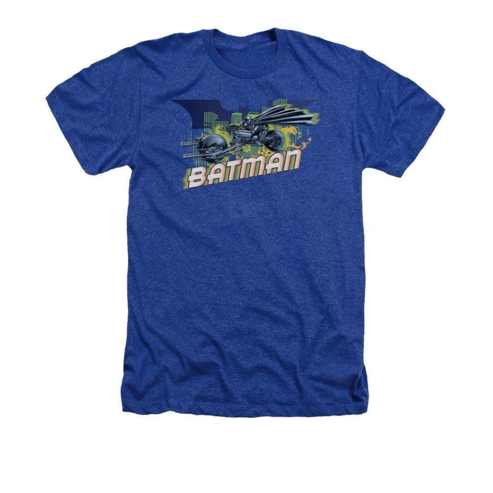 Batman Dark Knight Rises - Wheels On Fire Adult Regular Fit Heather T-Shirt