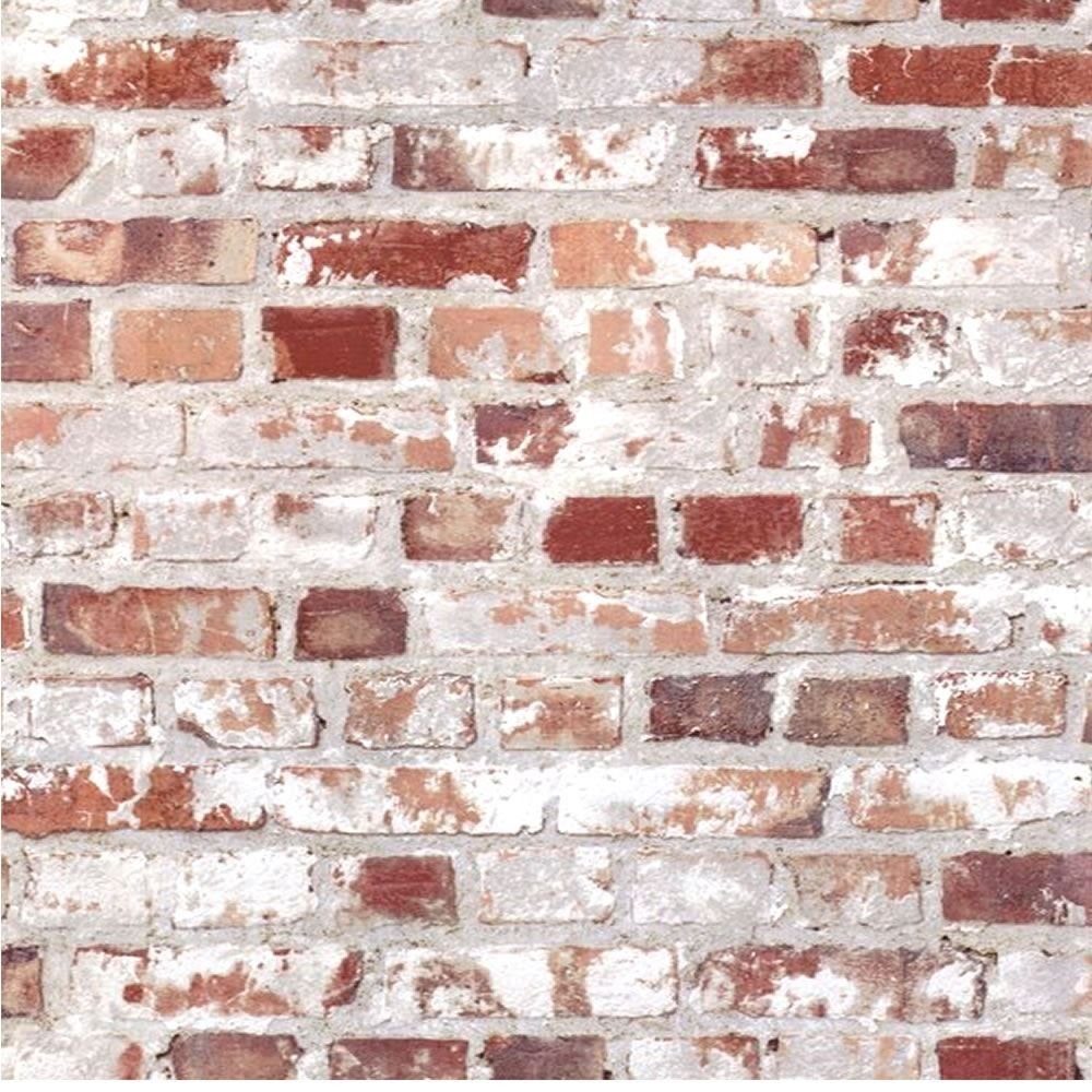 Rustic Brick Wall Decor : Multi rustic red loft brick retro