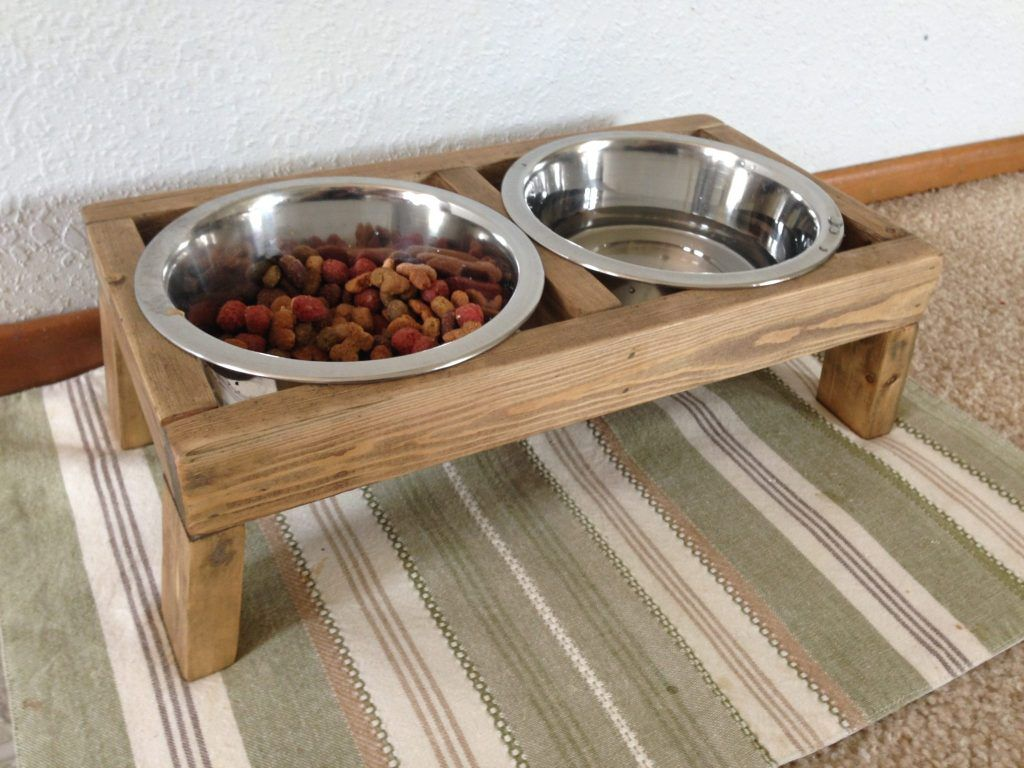 Diy dog bowl stand for less than 5 time for an upgrade