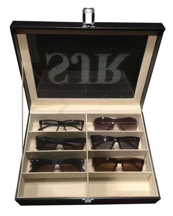 Sunglass Case Box Engraved Sunglasses Organizer Glasses Case
