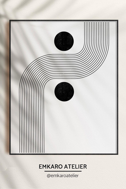 Minimal Geometric 70 x 50cm Mid-Century art Modern Block Print Original Block Print Abstract Original Print