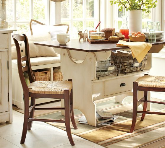 Pottery Barn Kitchen Table   Breakfast Nook Cameron Fixed Dining Table Pottery Barn Home Is
