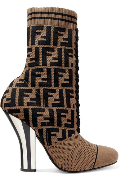 Fendi 2017 Suede Sock Booties for sale cheap authentic I23PQ