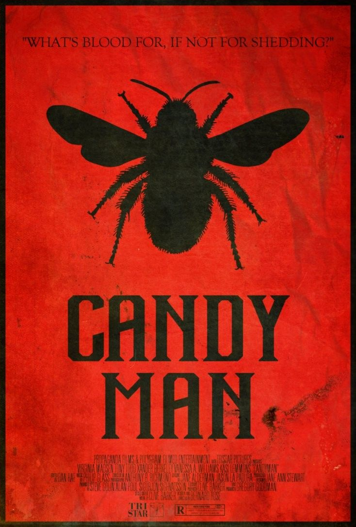 CANDYMAN  FILM MOVIE METAL TIN SIGN POSTER WALL PLAQUE