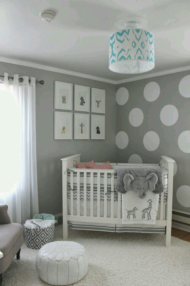 Polka-dot wall! | baby´s room | Pinterest