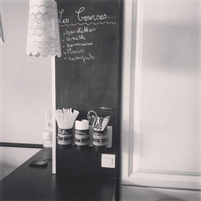 DIY – J\'organise grâce aux boîtes de conserve ! | Tableau ardoise ...