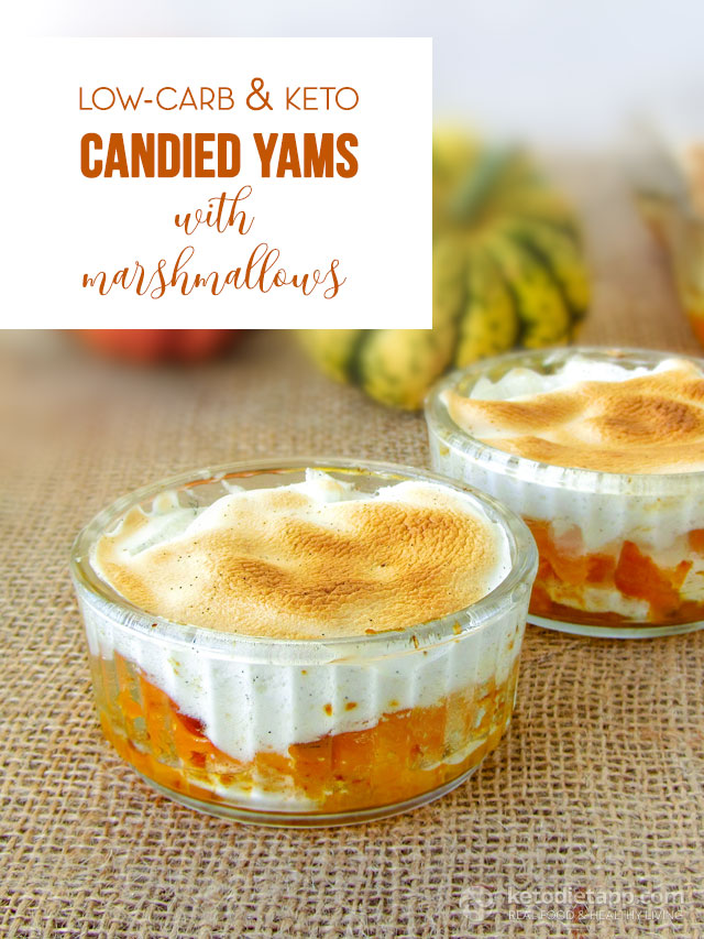 Low-Carb Candied Yams with Marshmallows | KetoDiet Blog