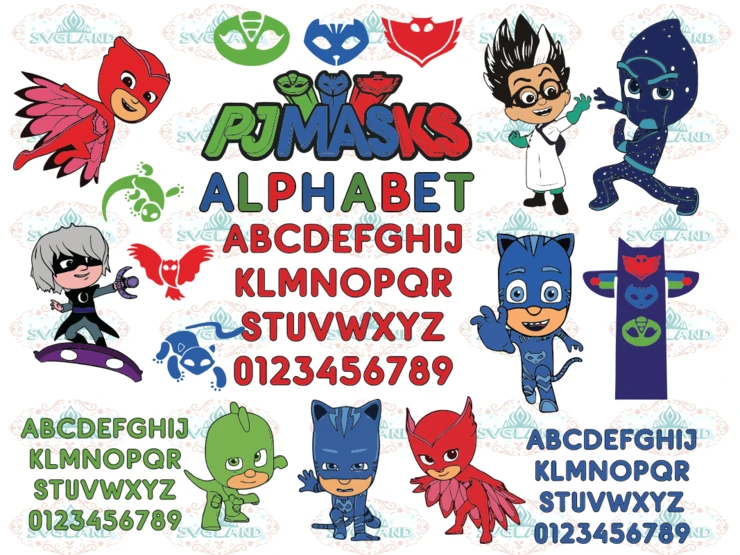 21 PJMASKS png files by BitznBobsCreations on Etsy Png