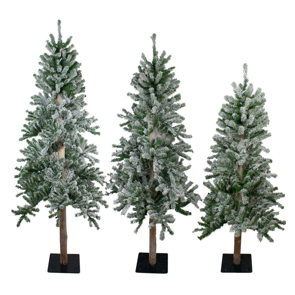 Northlight 3ct Alpine Artificial Christmas Trees 4ft 5ft And 6ft Unlit In 2021 Unlit Christmas Trees Green Christmas Tree Natural Christmas Decor