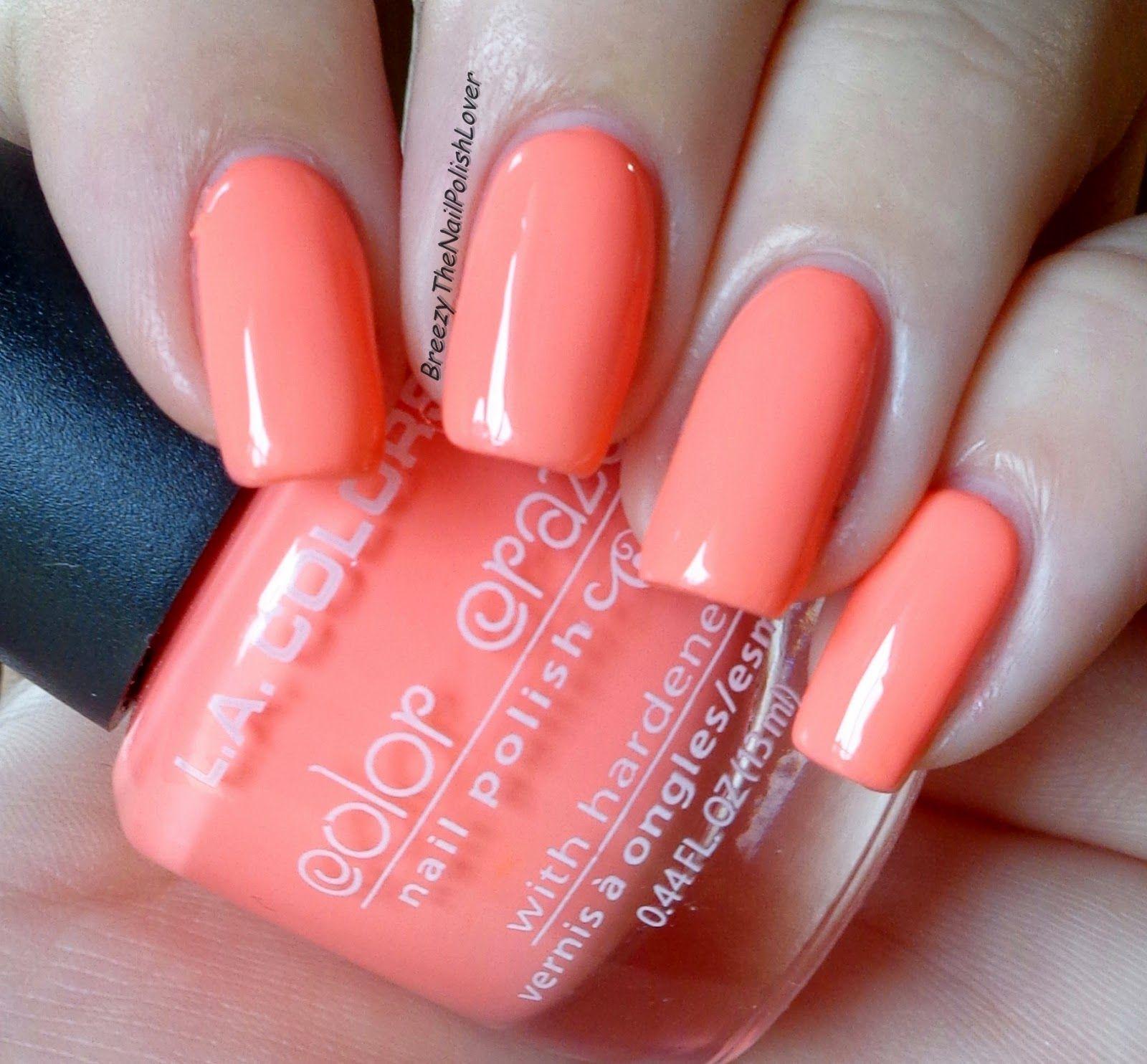 L A Colors Nail Polish 206 Nectarine Breezythenailpolishlover New L A Color Nail Polish Review And Nail Polish La Colors Nail Polish Nail Colors