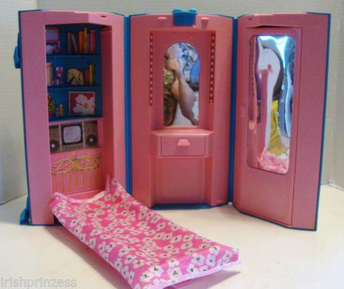 1984 Vintage Mattel Barbie Day U0026 Night Home U0026 Office Carousel Doll House  7897