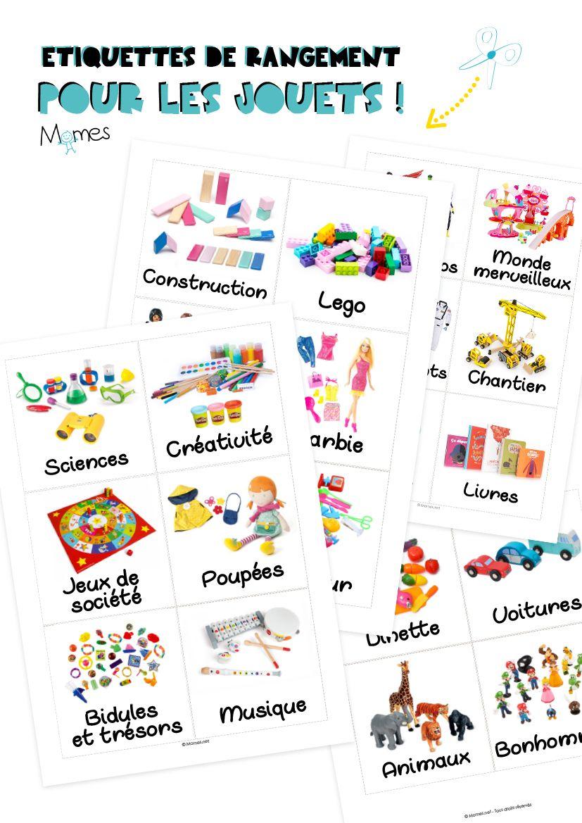 etiquettes de rangement pour jouets rangement jouet rangement et activit. Black Bedroom Furniture Sets. Home Design Ideas