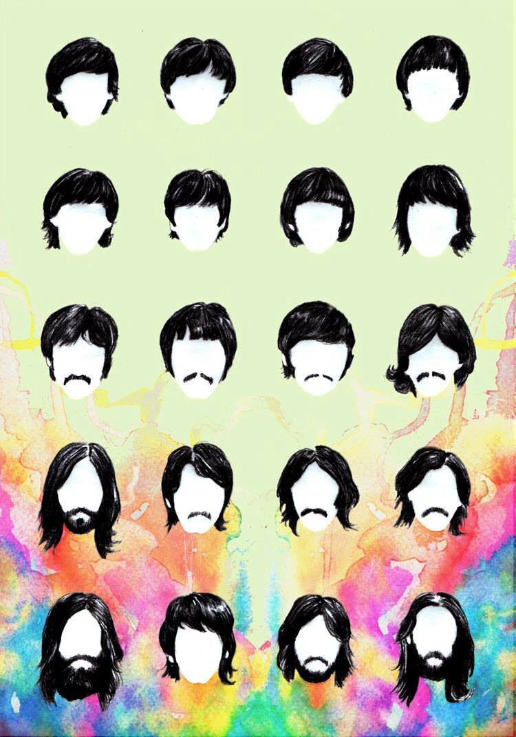 Beatles Hair Evolution Beatles Art The Beatles Beatles Artwork