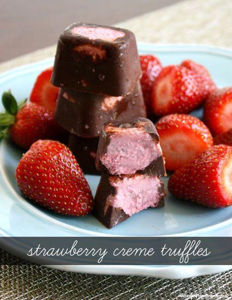 Raw Vegan Strawberry Cream Chocolate Truffles Raw Vegan Gluten Free Dairy Free Paleo Friendly