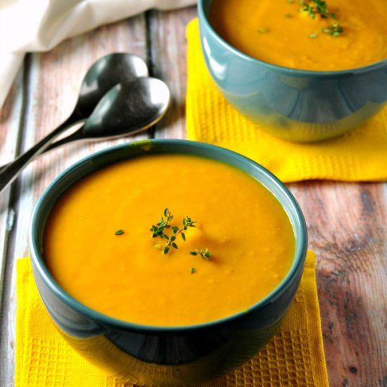 Our family's favourite Carrot-Ginger Soup has just enough sweetness from apples, interest from orange zest, and a kick from the ginger.