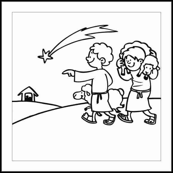 Infantil mercedarias pastores de bel n villancico - Dibujos de belenes ...