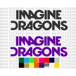 Imagine Dragons Logo Stickers For Cars Bikes Laptops Logo Sticker Imagine Dragons Sticker Design