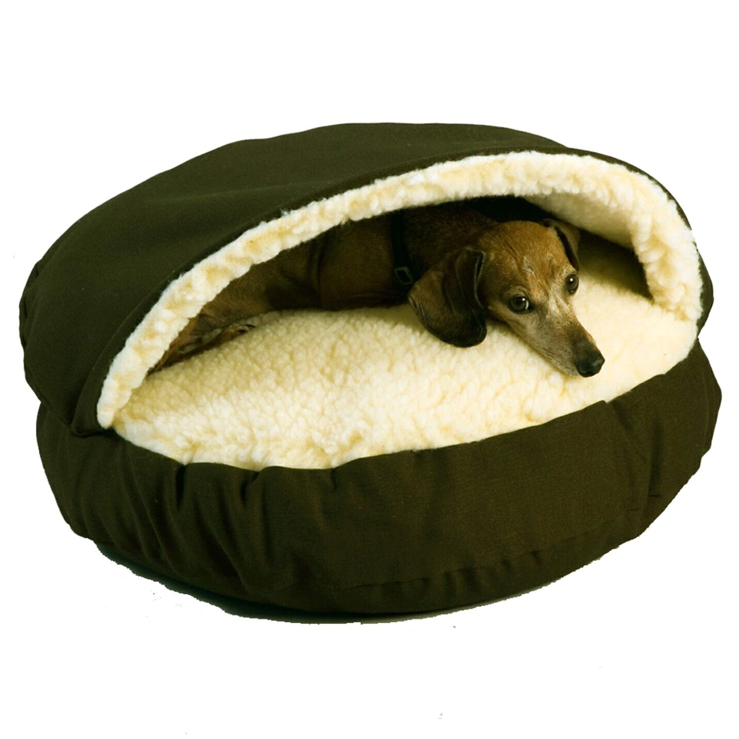 Snoozer Orthopedic Cozy Cave Pet Bed Large, Olive Cool
