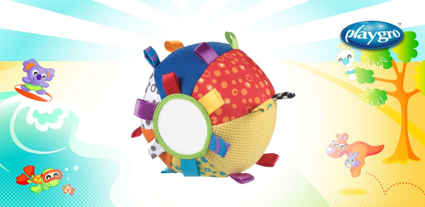 0180271 Balón Loopy Loop de #Playgro  ¡Rueda! ¡Lanza! ¡Muerde! Con el balón Loopy Loop de #Playgro el #bebé puede experimentar un sinfin de #actividades diferentes. Acolchado y de tacto suave que estimula la motricidad del #bebé. Diseñado para despertar el interés por aprender al #bebé.