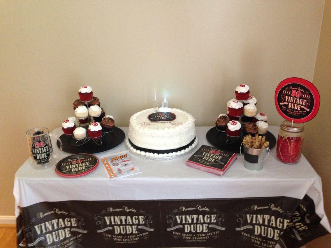 Vintage dude th birthday let em eat cake pinterest