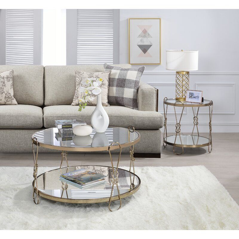 Godoy 2 Piece Coffee Table Set In 2020 Acme Furniture Table