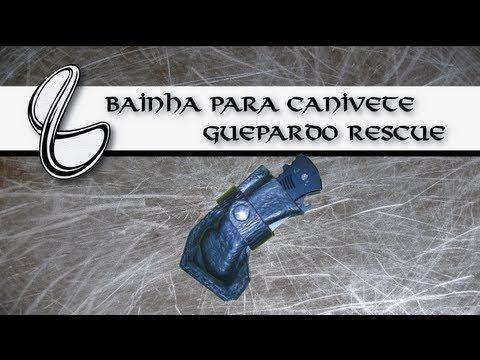 Bainha Artesanal em Couro para Canivete Guepardo Rescue