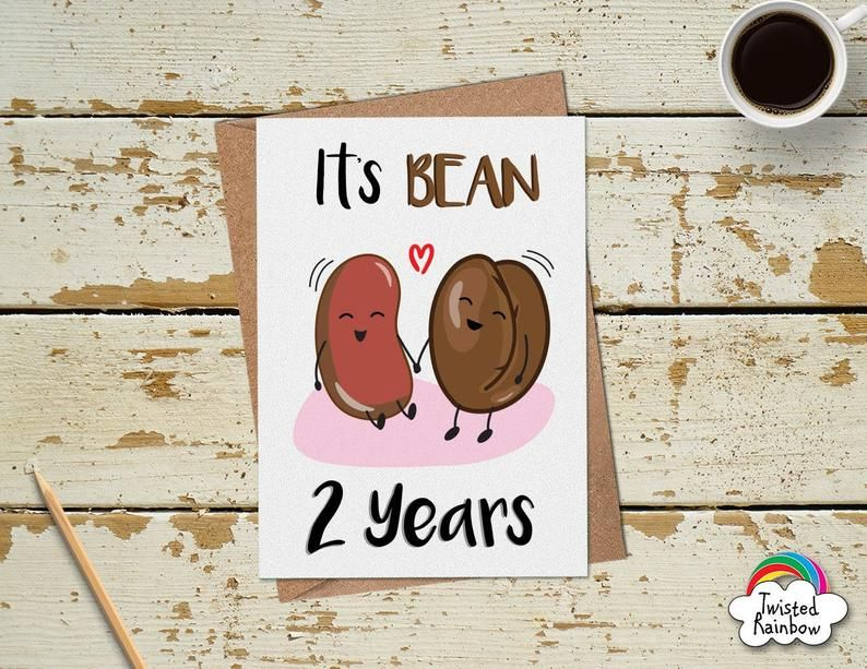Funny 2 Year Anniversary Card 2nd Anniversary Card Funny