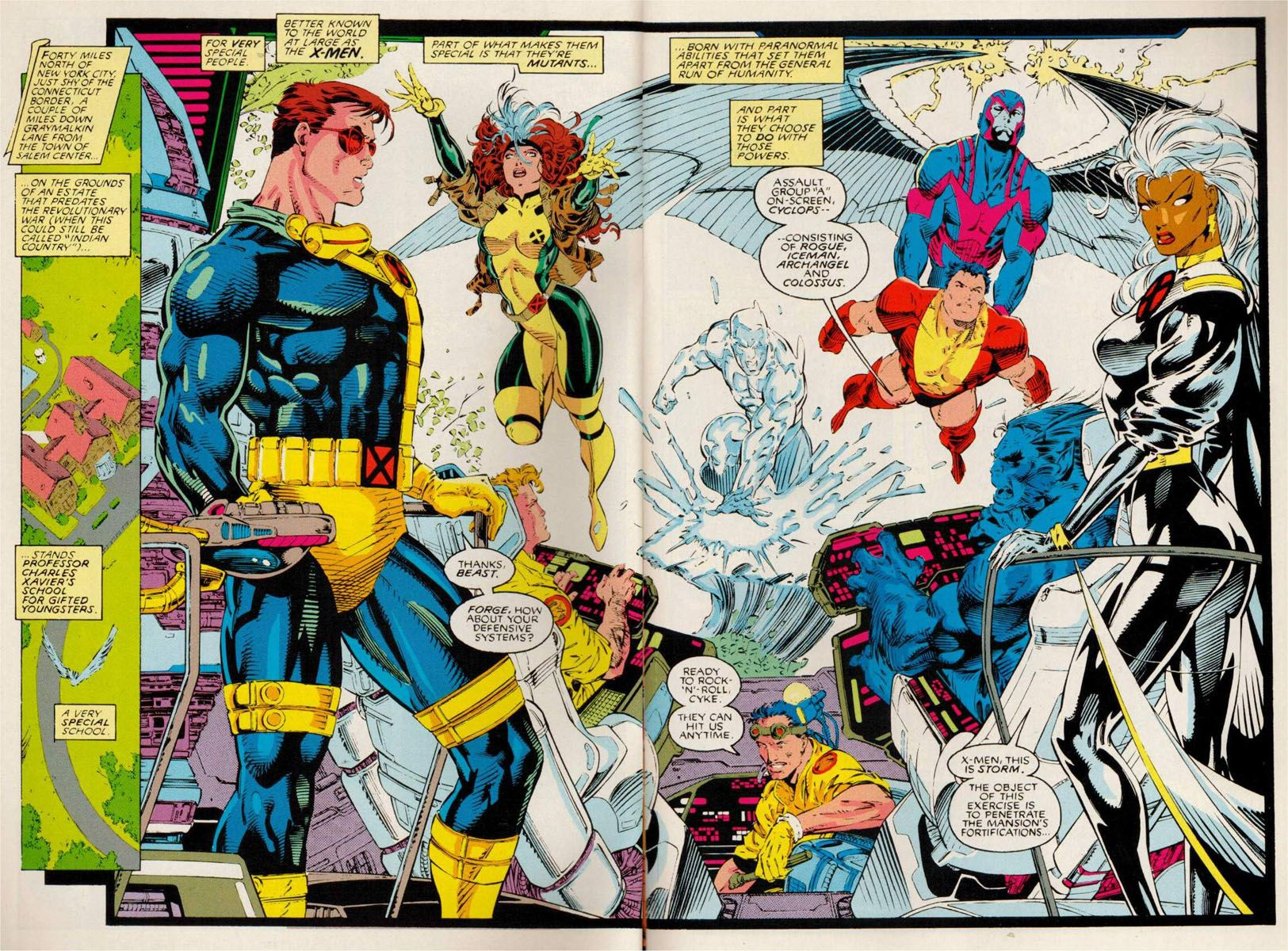 Pages 6 7 Of X Men 1 By Jim Lee Probably One Of My Favorite Issues Because Of When It Came Out How It S Written And Of Cours Jim Lee Art Comic Art Comics