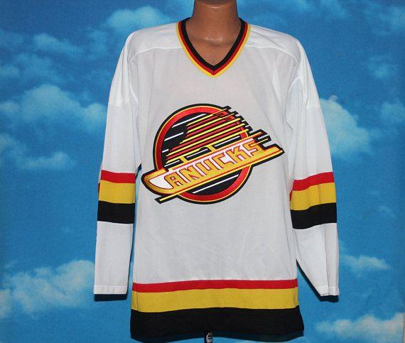 Vancouver Canucks Ccm Nhl Hockey Jersey Xl Vintage Etsy Vancouver Canucks Nhl Hockey Jerseys Canucks