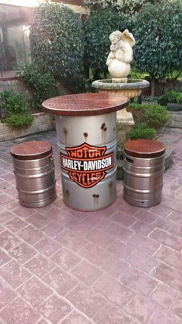 Harley Davidson Statafel.Just Finished Side 2 Statafel Decoracao De Garagem