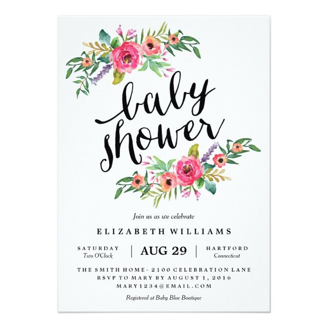 sweetest summer baby shower invitation | baby shower, Baby shower invitations